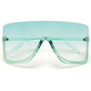 OVERSIZE HALF FRAME COLORFUL CRYSTAL FRAME STAR STRUCK SHIELDS - Sunglass Spot