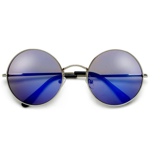 Retro Inspired Round Keyhole Bridge Frost Frame Sunnies