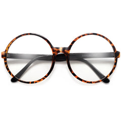 Super Oversized 69mm Round Boho Chic Clear Fashion Eyewear