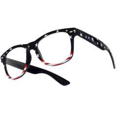 Patriotic Stars & Stripes U.S. Flag Classic Clear Wayfarer Sunglasses
