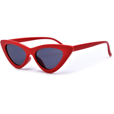 Slim Streamlined Cat Eye Silhouette Sunnies