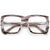 Oversize Thick Squared Off Clear Eyewear