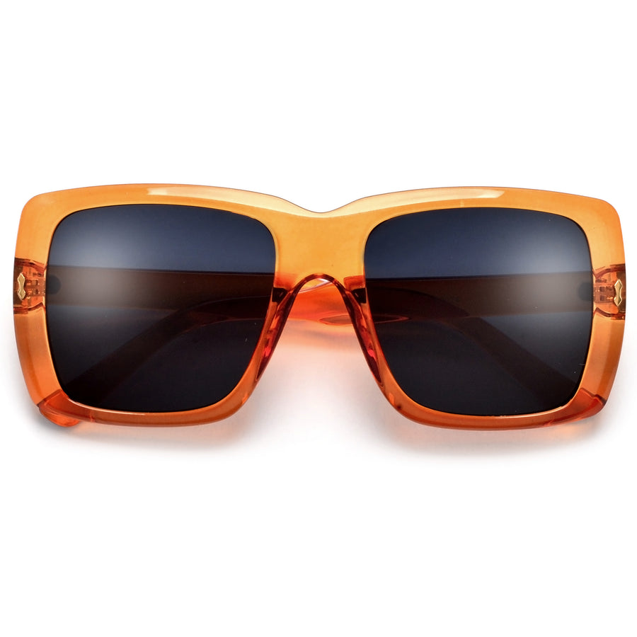 OVERSIZE THICK SQUARED OFF SUNNIES