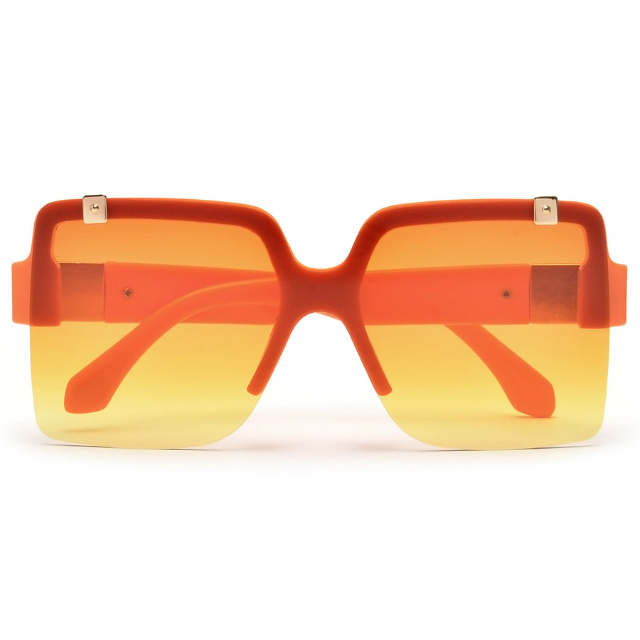 Rimless Oversize Square Frame Sunnies