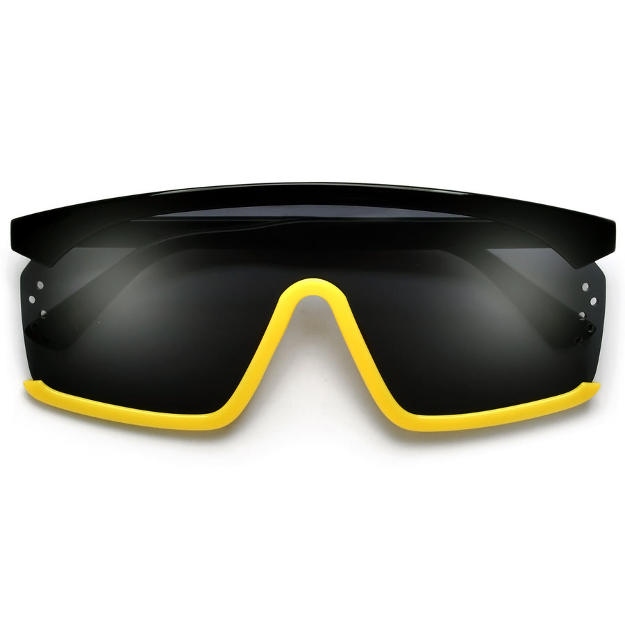 Futuristic 140mm Street Style Shield Sunglasses