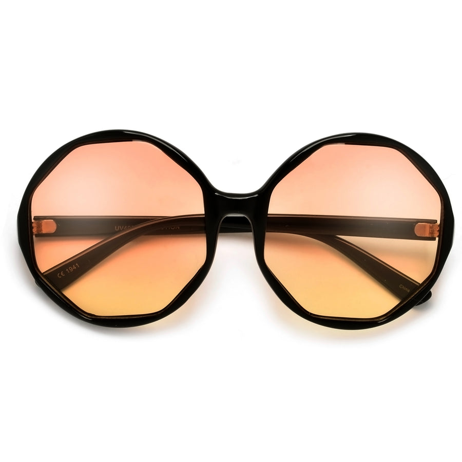 Chic Boho Geometric Round Sunnies