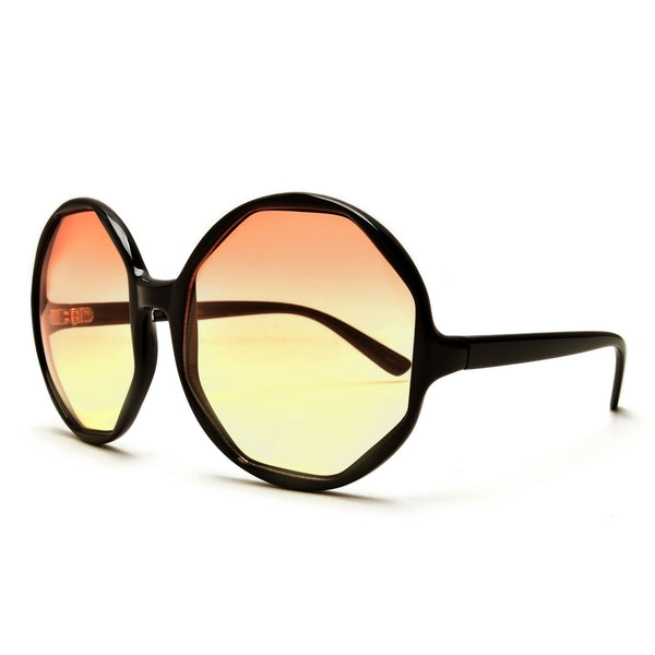 Premier Collection-Exquisite Women's Oversize Polished Metal Frame Glam Sunglasses