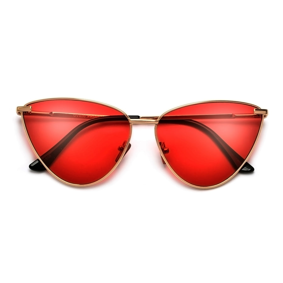 SLEEK WIRE FRAME CHIC AND MODERN CAT EYE SUNNIES