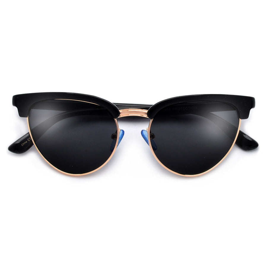 STYLISH HALF FRAME STYLISH CATEYE SUNGLASSES
