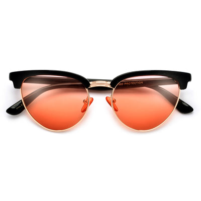 STYLISH HALF FRAME STYLISH CATEYE SUNGLASSES - Sunglass Spot