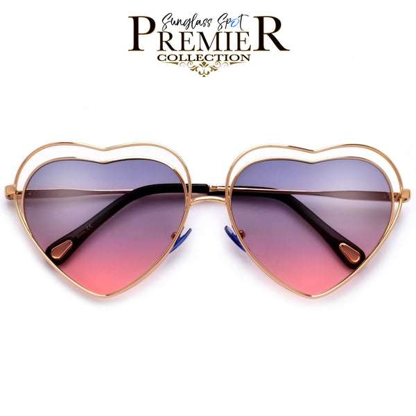 Premier Collection-Adorable Lovely Heart Shaped Cutout Sunnies