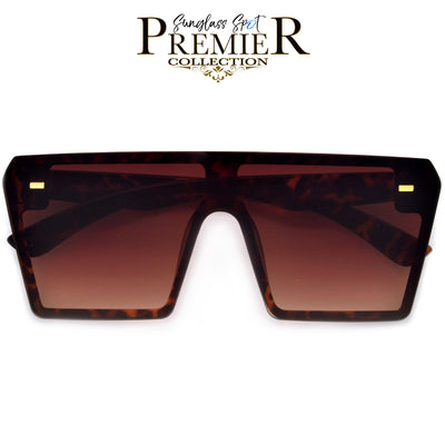 Premier Collection-Oversized Flat Top Show Stopping Sunnies