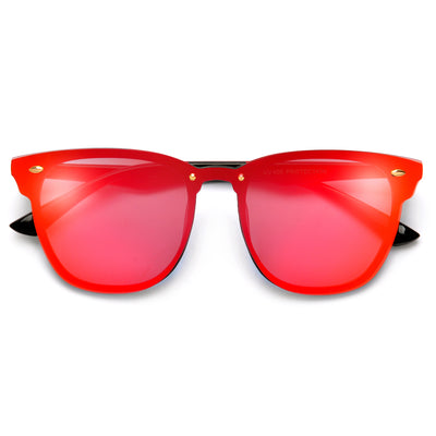 Appealing Futuristic Effect To A Classic Half Frame Sunglasses