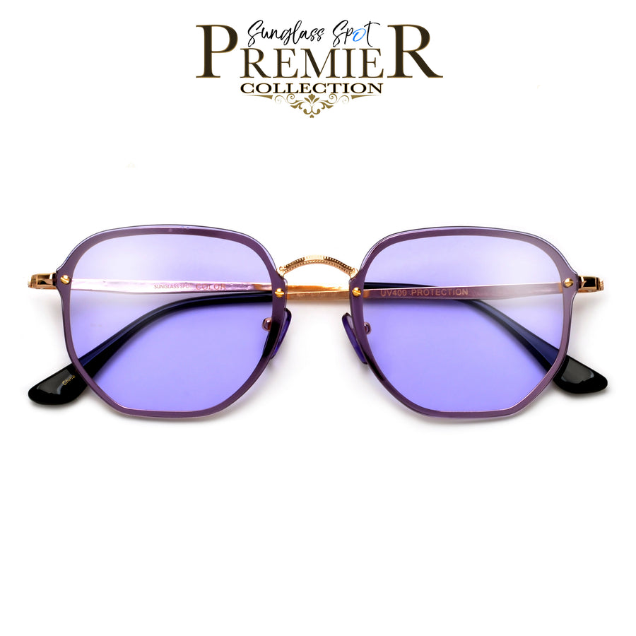 Premier Collection-Futuristic Appealing Geometric Flat Lens Sleek Sunnies
