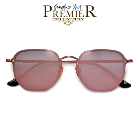 Premier Collection-High Pointed Tip Half Frame Cat Eye Sunnies
