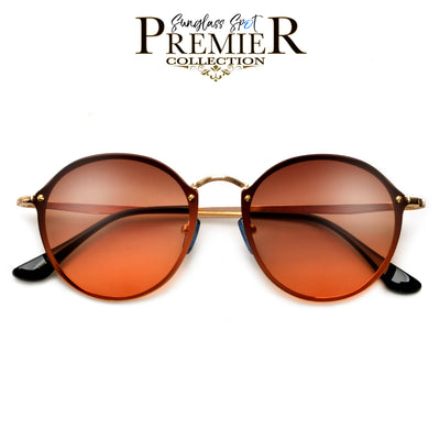Premier Collection-Retro Appeal Futuristic Flat Lens Glam Sunnies
