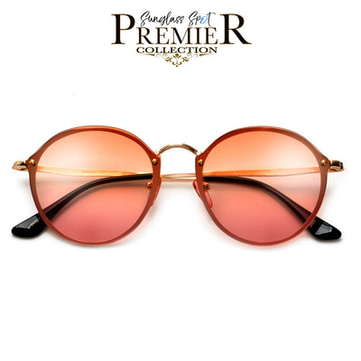 Premier Collection-Retro Appeal Futuristic Flat Lens Glam Sunnies - Sunglass Spot