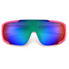Full Wraparound Sporty Futuristic Shield Sunnies - Sunglass Spot