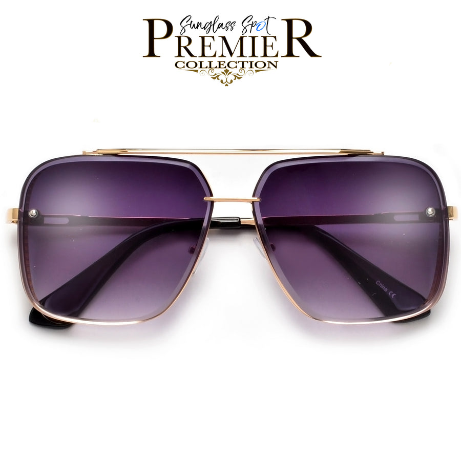 PREMIER COLLECTION-OVERSIZE HIGH QUALITY DETAILED SIDE CUP SQUARED OFF AVIATOR