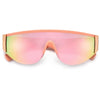 Sporty Semi Rimless Curved Shield Sunnies - Sunglass Spot