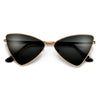 Sleek Sharp Cat Eye Inspired Silhouette Metal Sunnies - Sunglass Spot