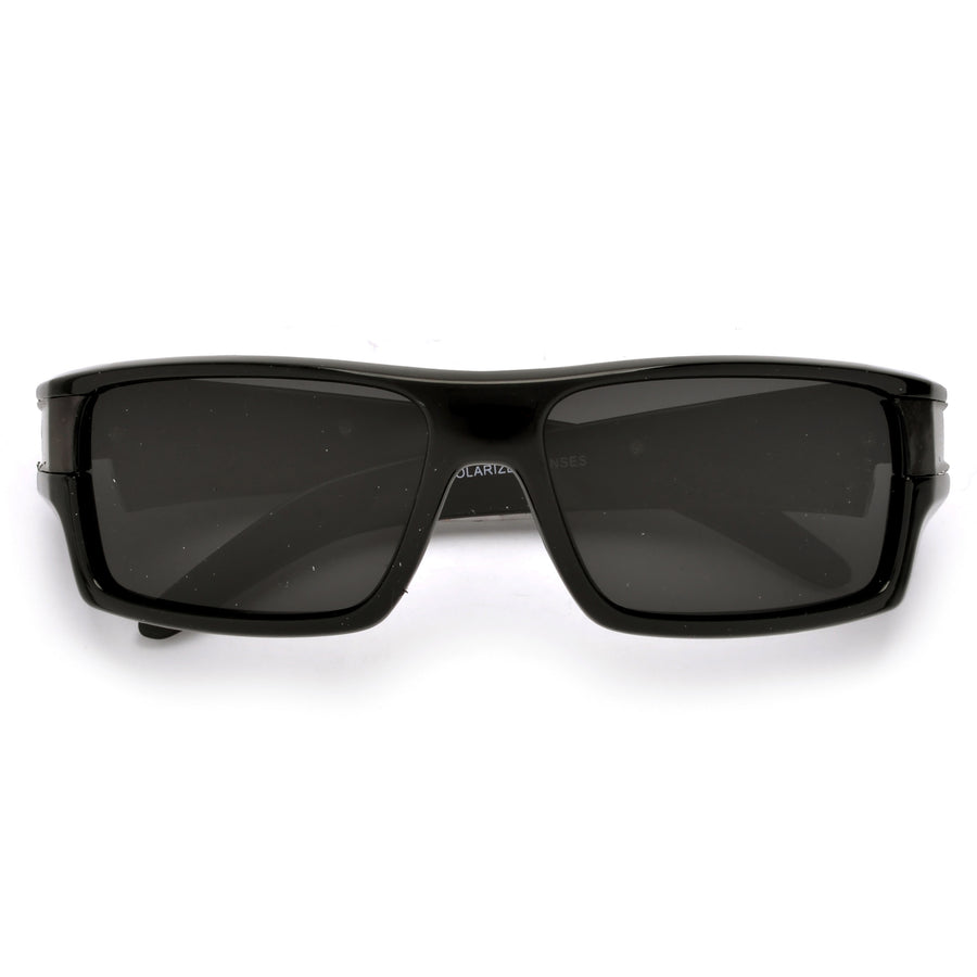 62mm Polarized Men's Streamlined Active Sport Bold Shades