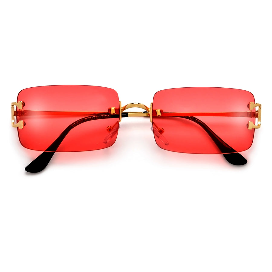 Modern Rimless Horse Shoe Temple Sunglasses