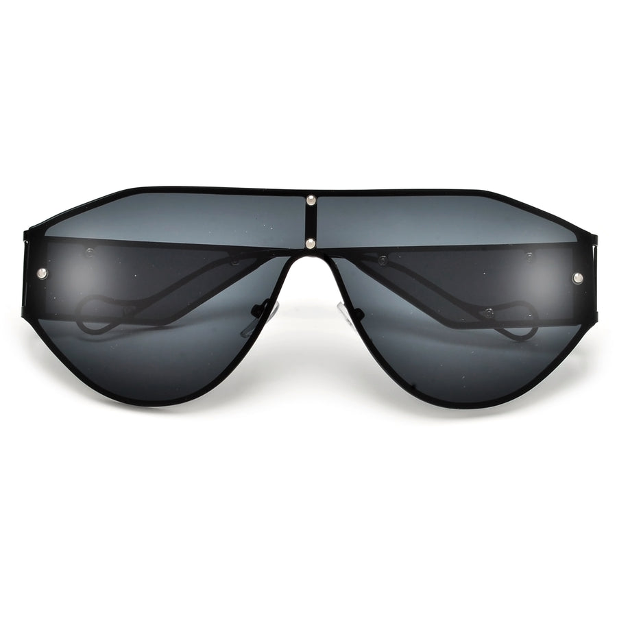 Modern Angular Distinctive Bold Shield Sunnies