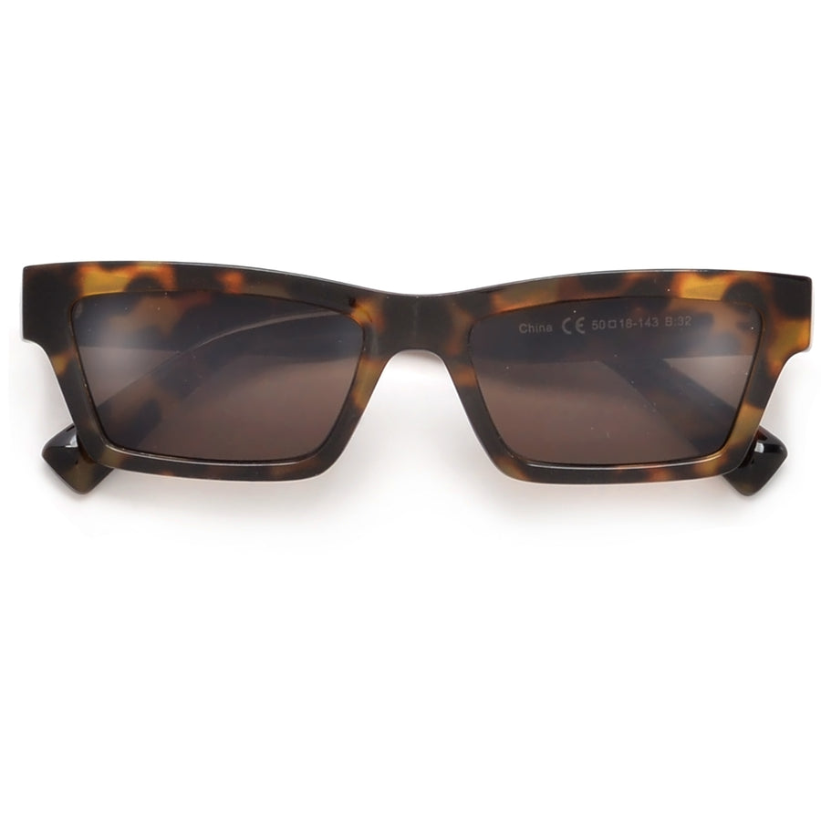 RETRO SLIM NARROW CAT EYE SUNGLASSES