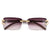 Thin Narrow  Horse Shoe Wood Temple Fashion Sunnies