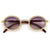 WOOD TEMPLE SHIMMERING CRYSTALS EMBED HIGH FASHION SUNNIES