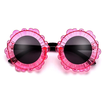 Super Cute Oversize Sunflower Frame Sunglasses - Sunglass Spot