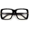 Oversize Thick Squared Off Clear Eyewear - Sunglass Spot