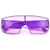 Full Coverage Colorful Sleek Shield Sunnies - Sunglass Spot