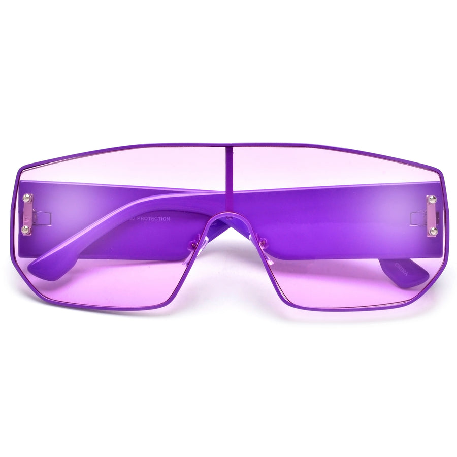 Full Coverage Colorful Sleek Shield Sunnies