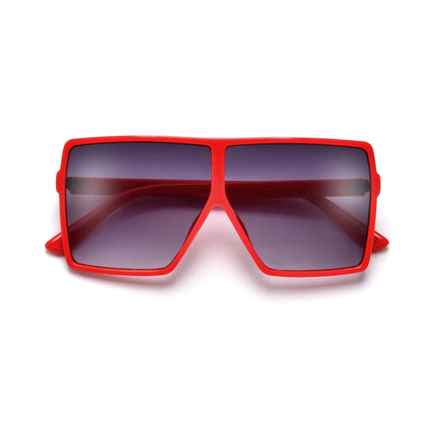 55mm Flat Lens Full Metal Frame Modern Squared Off Sunnies