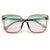 Bold Squared Off 55mm Sunglasses