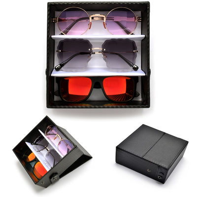 Sleek Carbon Fiber Sunglass Display - Sunglass Spot