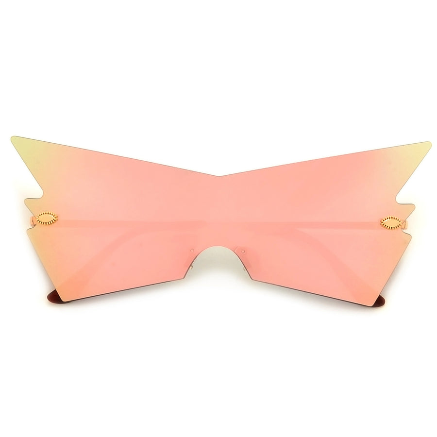 Rimless Geometric Flashy Shield Sunnies