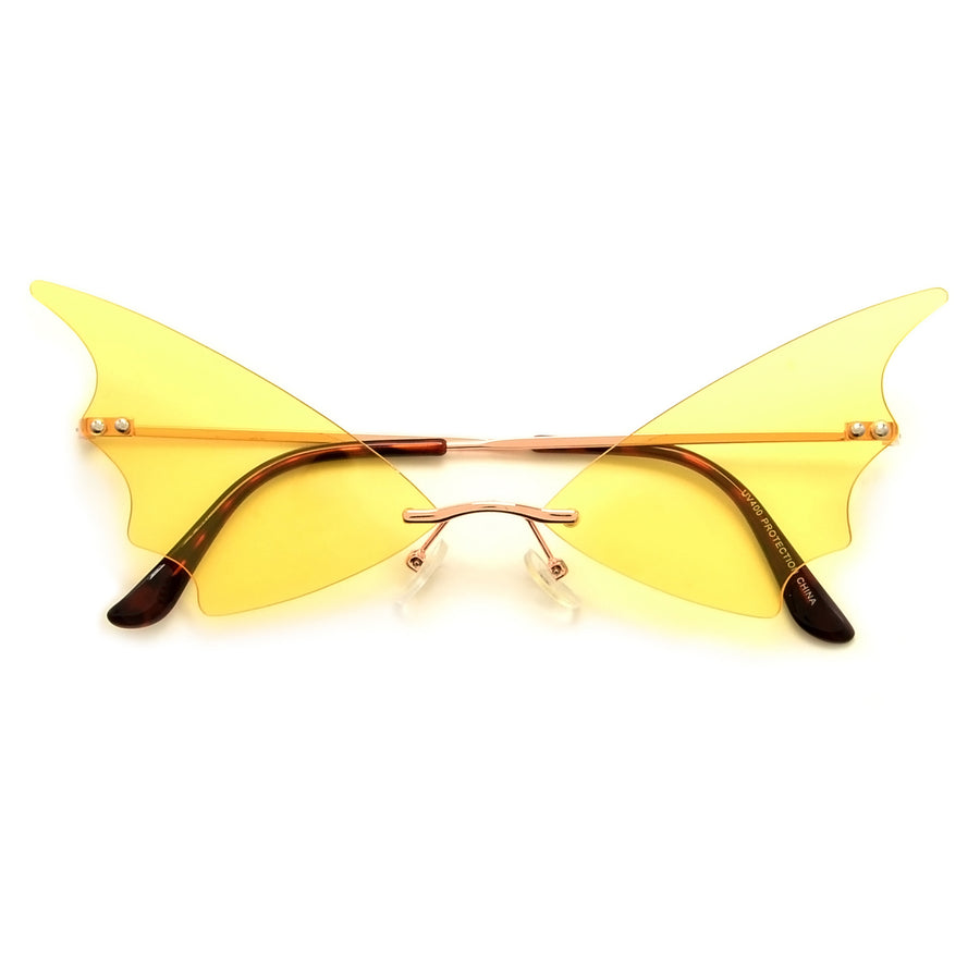 Rimless High Tip Wings - Sunglass Spot