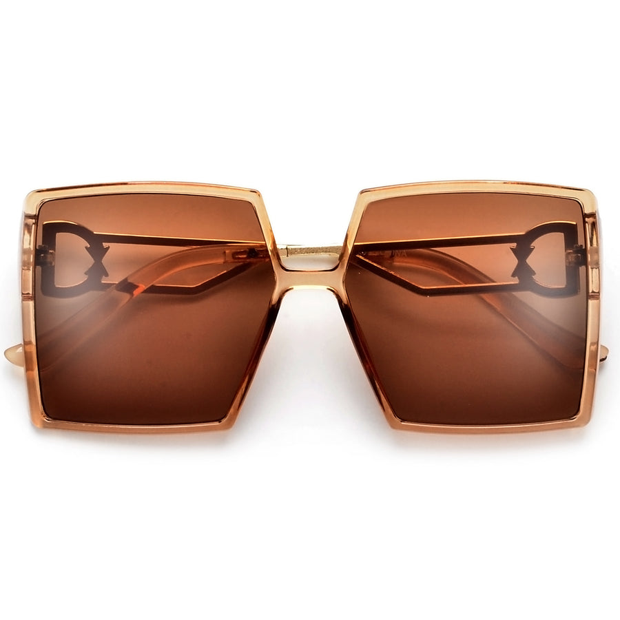 Oversize High Fashion Square Frame Sunglasses