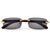 Sleek Rimless Detailed Temple Sunnies