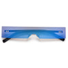 Futuristic Rimless Narrow Slim Shields - Sunglass Spot