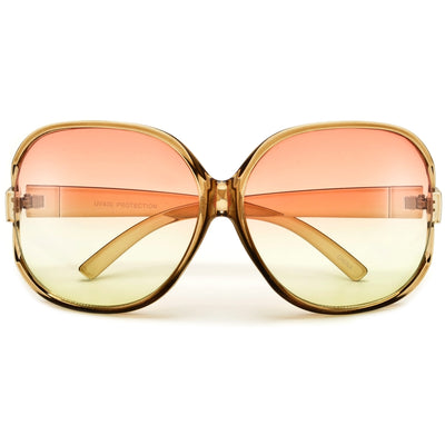 Sophisticated Oversize Round Cutout Sunglasses
