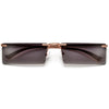 Rimless Rectangular Fashion Forward Sunnies - Sunglass Spot