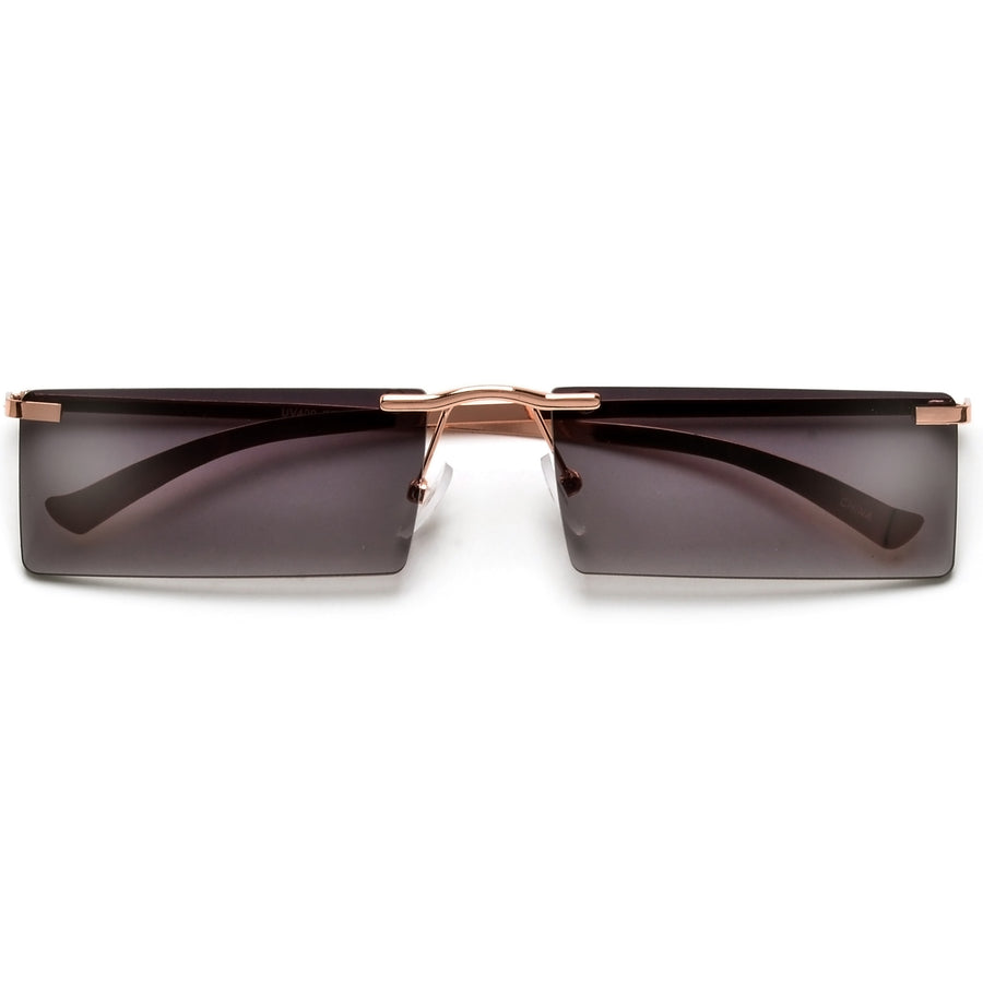 Rimless Rectangular Fashion Forward Sunnies