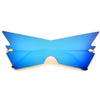 Rimless Geometric Flashy Shield Sunnies - Sunglass Spot
