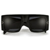 Oversize Sleek Contemporary Thick Temple High Fashion Sunglasses - Sunglass Spot
