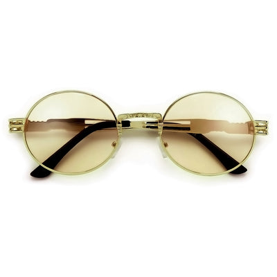Retro 60's Inspired Colorful Lens Oval Sunglasses - Sunglass Spot
