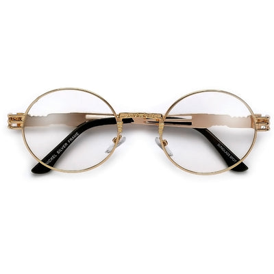 Retro 60's Inspired Clear Oval Eyewear